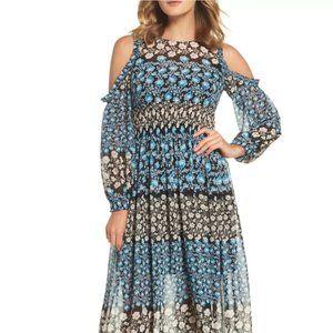 NWOT ELIZA J Floral Cold Shoulder Maxi Dress